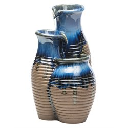 Alfresco Home Canaan Jars Fountain with Pump