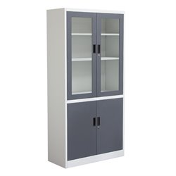 Diamond Sofa 4 Shelf Bookcase in Dark Gray