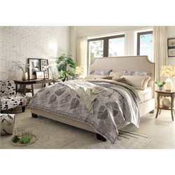 Diamond Sofa Kingston Upholstered Queen Low Profile Bed in Desert Sand
