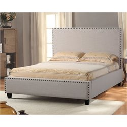Diamond Sofa La Jolla Upholstered King Low Profile Bed