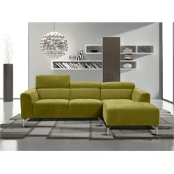 Diamond Sofa Gemma 2 Piece Fabric Right Facing Sectional in Green