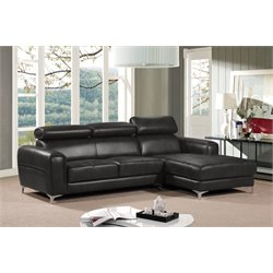 Diamond Sofa Society 2 Piece Faux Leather Right Facing Sectional
