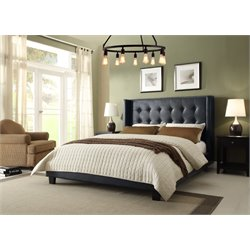 Diamond Sofa Madison Faux Leather Upholstered California King Bed