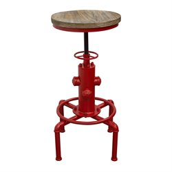 Diamond Sofa Brooklyn Adjustable Bar Stool in Red