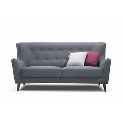 Diamond Sofa Jasper Tufted Sofa in Gray
