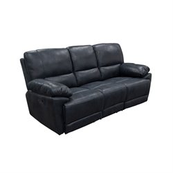 Diamond Sofa Mason Faux Suede Reclining Sofa in Black