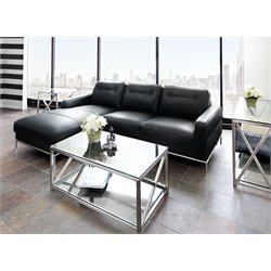 Diamond Sofa Sable 2 Piece Leather Upholstered Sectional