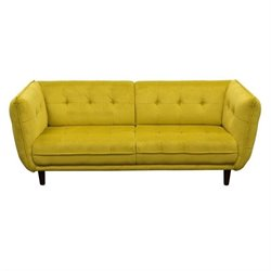 Diamond Sofa Venice Fabric Sofa in Yellow