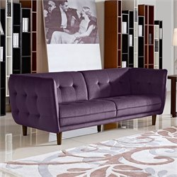 Diamond Sofa Venice Fabric Sofa in Purple