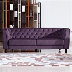 Diamond Sofa Bellini Fabric Sofa in Purple