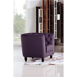 Diamond Sofa Bellini Fabric Accent Chair in Purple