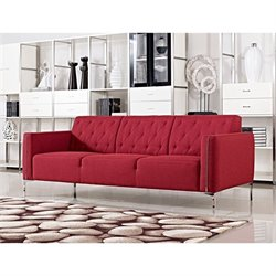 Diamond Sofa Elise Fabric Sofa in Red