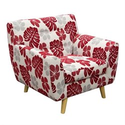 Diamond Sofa Scarlett Patterned Fabric Accent Chair in Rouge Floral