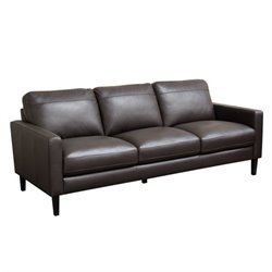 Diamond Sofa Omega Leather Sofa in Dark Chocolate