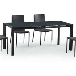 Diamond Sofa Carbon Glass Dining Table in Grey
