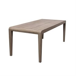 Diamond Sofa Wind Wood Dining Table in Ash Brown