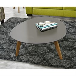 Diamond Sofa Mid-Century Retro Trio Coffee Table in Gray and Oak