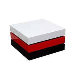 Diamond Sofa Spark Rotating Coffee Table with Storage in Red