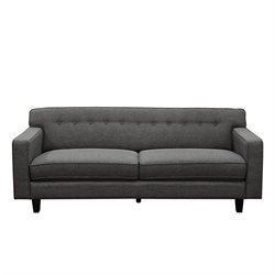 Diamond Sofa Mid-CenturyTufted Fabric Sofa in Slate