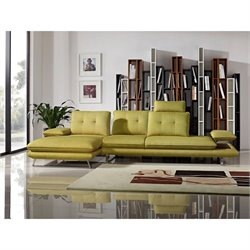Diamond Sofa Eva 2 Piece Left Fabric Adjustable Sectional in Yellow