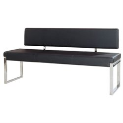 Diamond Sofa Knox Bench with Back in Black