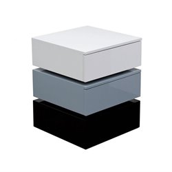 Diamond Sofa Spark Tri-Color 2 Drawer Storage Accent Table in Gray