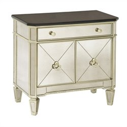 Bassett Mirror Borghese Small Mirrored Chest in Silver