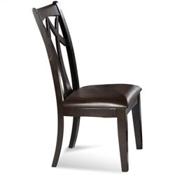 Bassett Mirror Elation  Back Upholstered Leather Seat  Dining Chair