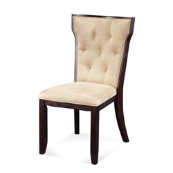 Bassett Mirror Serenity Upholstered Microfiber Side Chair in Beige