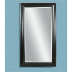 Bassett Mirror Kingston Leaner Mirror in Ebony
