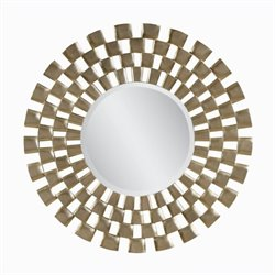 Bassett Mirror Chequers Wall Mirror in Silver Leaf