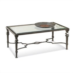 Bassett Mirror Lido Rectangle Cocktail Table in Burnished Bronze