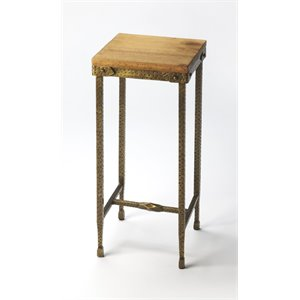 Butler Specialty Industrial Chic Square Accent Table in Multi-Color