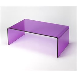 Butler Specialty Loft Coffee Table in Purple Acrylic
