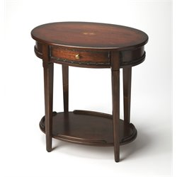 Butler Specialty Plantation Cherry Oval End Table in Dark Brown