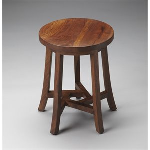 Butler Specialty Loft Round Accent Table in Light Brown