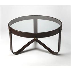 Butler Specialty Cosmopolitan Round Coffee Table in Medium Brown