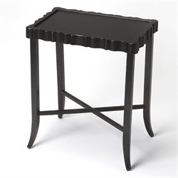 Butler Specialty Masterpiece Devon Tray End Table in Black Licorice
