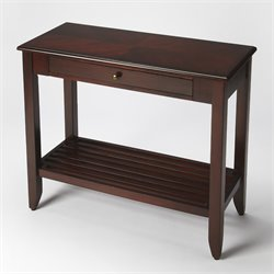 Butler Specialty Plantation Cherry Irvine Console Table in Dark Brown