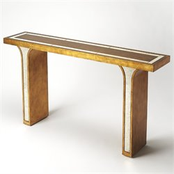 Butler Specialty Cosmopolitan Katya Console Table in Gold Leaf
