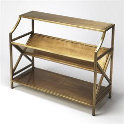 Butler Specialty Industrial Chic 3 Shelf Keats Librarie Bookcase