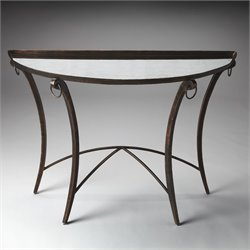 Butler Specialty Metalworks Marilyn Demilune Console Table in Metal