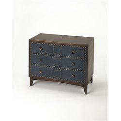 Butler Specialty Cosmopolitan 3 Drawer Lindor Accent Chest in Denim