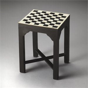 Butler Specialty Bone Inlay Bishop Bunching Chess End Table