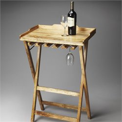 Butler Specialty Artifacts Highland Folding Wine Rack in Solid Wood