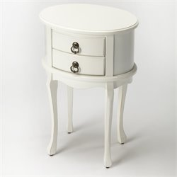 Butler Specialty Masterpiece Whitley Oval End Table in Cottage White