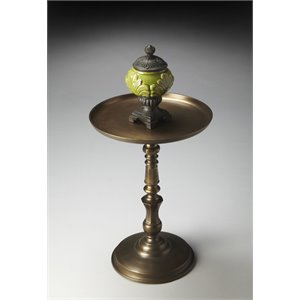 Butler Specialty Metalworks Round Pedestal Table in Bronze