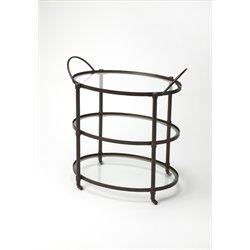Butler Specialty Metalworks Oval Serving Cart in Gray