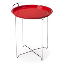 Butler Specialty Butler Loft Round Tray Accent Table in Red