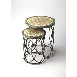 Butler Specialty Metalworks 2 Piece Round Nesting Table Set
